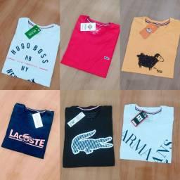 Camisas 30.1 a $13 acima de 100 peças