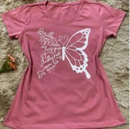 Título do anúncio: Blusa Camisa Feminina Tshirt 100% Algodão Plus Size