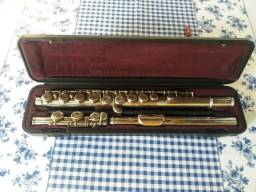 Flauta yamaha 211 banho de prata