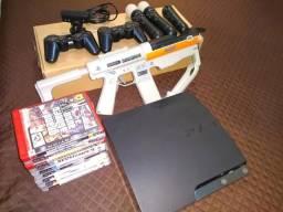 Usado, PS3 + Kit Move + Arma + jogos comprar usado  Rio de Janeiro