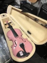 Violino 1/2 infantil Rosa Jahnke seminovo zeradinho