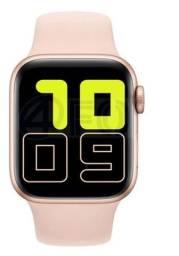 Relógio inteligente smartwatch X6 sistema IWO12 IOS Android Rosa NOVO.