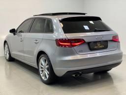 Audi a3 sportback 1.4 ambiente top + teto 2016. léo careta veículos