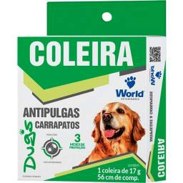 Coleira World Veterinária Dug's Antipulgas e Carrapatos para Cães