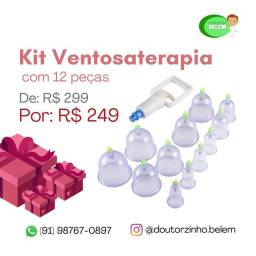 Kit Ventosa Terapia 12 peças completo