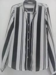 Título do anúncio: Blusa Social Nova preta e branca tam 46
