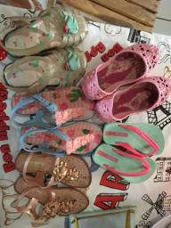 Lote sandália infantil feminina