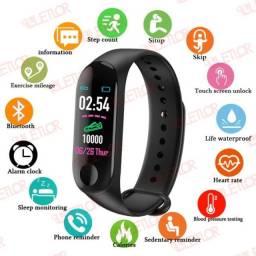 Relógio Inteligente Smartband M3 Monitor Cardíaco Pressão