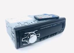 Som Automotivo Bluetooth Para Carro com Controle Controle Auto Rádio Aux Sd Pen Drive