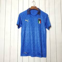 Camisa Puma Itália S/nº Home Azurra 2020