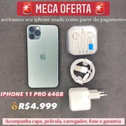iPhone 11 Pro 64gb, aceitamos seu iPhone usado como parte do pagamento.