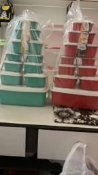 Jogo de vasilhas plásticas