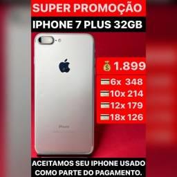 iPhone 7 Plus 32gb, aceitamos seu iPhone usado como parte do pagamento.