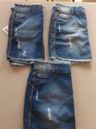 Título do anúncio: 3 saia jeans 120,00
