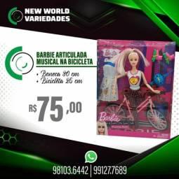 BARBIE MUSICAL ARTICULADA BICICLETA
