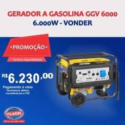Gerador à Gasolina 6000W GGV6000 Bivolt Vonder ? Entrega grátis