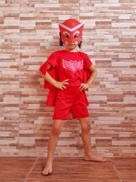 Fantasia Infantil - Corujita (PJ Masks) - Pronta Entrega