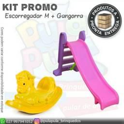 Escorregador + Gangorras para parquinho Playground