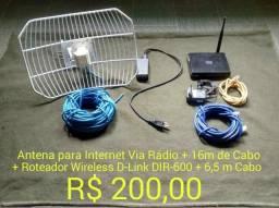 Antena para internet via radio