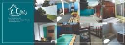 Locação de casa com piscina bem localizado por temporada