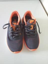 Tênis Nike Flex 2016 RN Cinza/Laranja Tam. 34