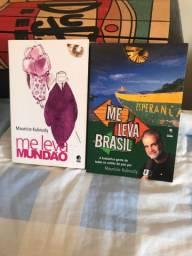 Livros Me leva Brasil e Me leva Mundão - Mauricio Kubrusly