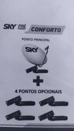 sky pré pago conforto com até 4ponto