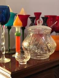 Poncheira de cristal com 12 taças