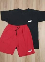 Título do anúncio: Kit camiseta + shorts