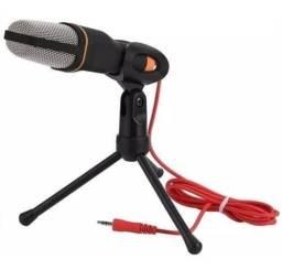 Microfone Condensador Profissional + Tripé (ENTREGA GRÁTIS)