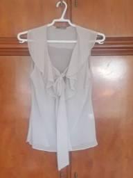 Blusa de seda com laços