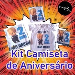 Kit Camiseta de Aniversário