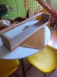 Prateleira rústica madeira maciça