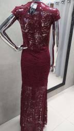 Kit Promocional 3 Vestidos Longos Renda