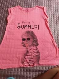 Camisa feminina tamanho 12 anos