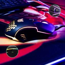 Mouse Gamer Profissional Onikuma CW902 Led RGB 6400dpi 7 botões