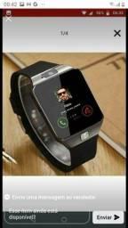 Smartwatch Bluetooth c câmera e entrada chip  R$80(90 cartão)
