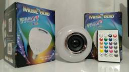 Lâmpada Led Musical Bluetooth Com Controle Remoto Music Bulb