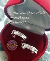 Alianças de prata 950k