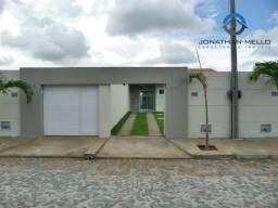 Casa plana no Eusébio com 3 quartos e 3 vagas