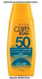 Protetor solar rosto e corpo fator 50 Care Sun + da Avon