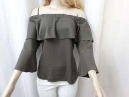 Blusa ombro a ombro verde