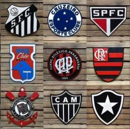 Placa Decorativa Em Alto Relevo Time de Futebol