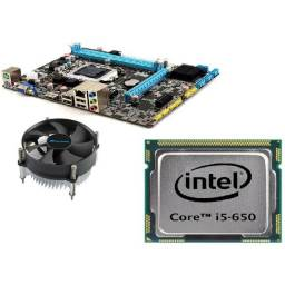 Kit Upgrade Placa mãe + Processador com Cooler + Memória Ram 8 GB