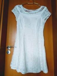 Vestido Branco de Renda Tamanho M