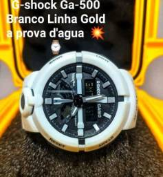 G-shock Ga-500 Branco Linha Gold