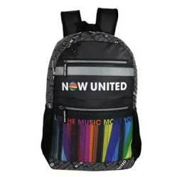 Mochila Now United Escolar Notebook Original Lançamento