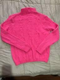 Título do anúncio: Blusa de lã rosa neon
