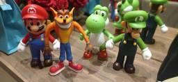 Coleção Super Mario Individual Luigi, Crash, Mario, Yoshi