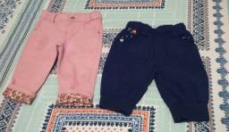 Título do anúncio: Roupa de Bebê Short Bermuda Menina Tamanho 2